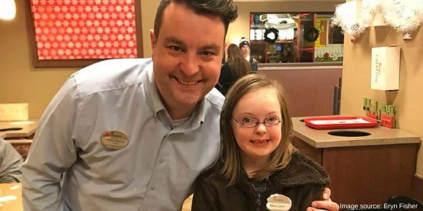 Girl with Down syndrome gets to work at Chick-fil-A for a day