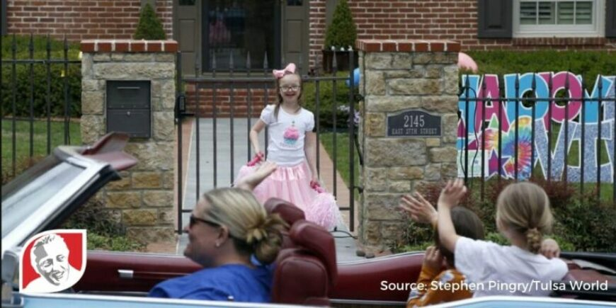 10-year-old girl with Down syndrome is surprised with drive-by birthday parade