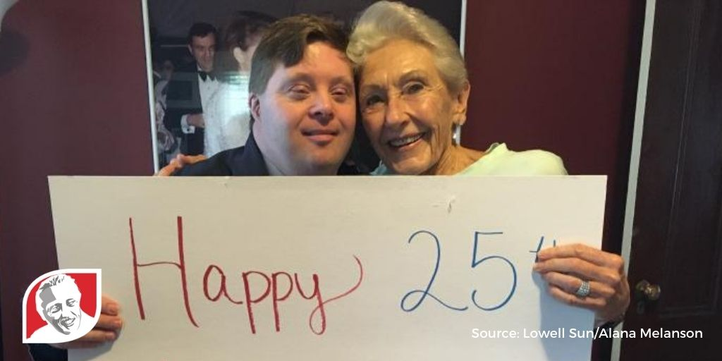 Massachusetts man with Down syndrome celebrates 25-year work anniversary